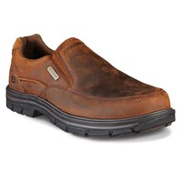 Skechers Relaxed Fit Segment Manlon Men's Waterproof Slip-On Shoes (Brown)