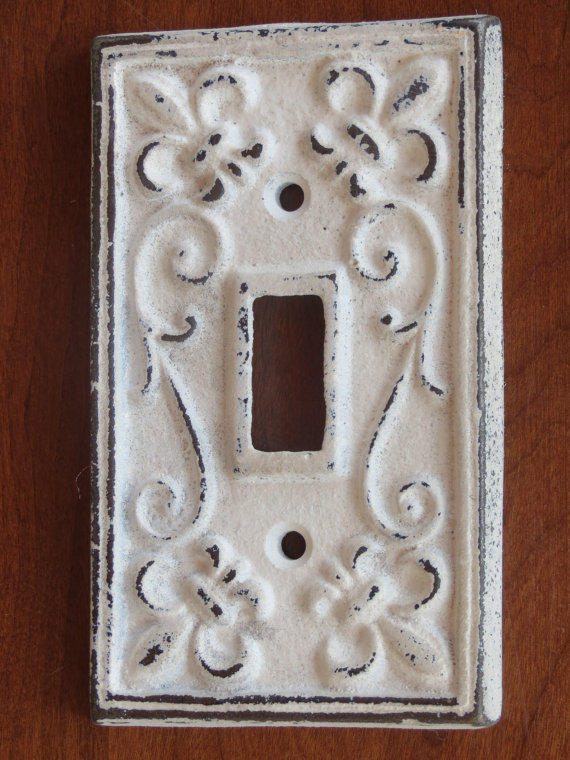Antique White Light Switch Cover Light From