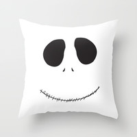 Jack Skelington, The Nightmare Before Christmas Throw Pillow by gabsnisen