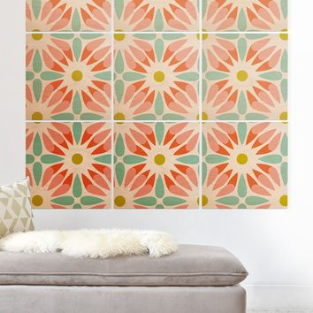 Heather Dutton Crazy Daisy Sorbet Wood Wall Mural