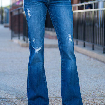 All The Right Moves Flare Jeans, Denim