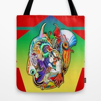 Survival of the fittest Tote Bag by Fruit Of Phalanges | Society6