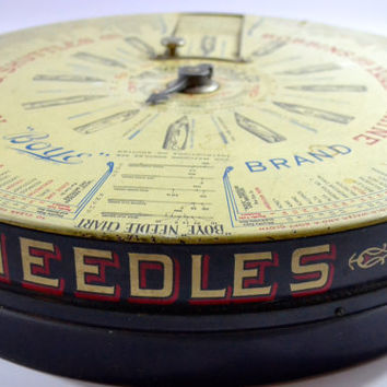 RARE Large Antique Store Display, BOYE Needle Co. Display Case, Metal Sewing Display, Vintage Shop Display, Advertising