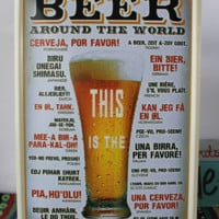 How to Order Beer Around the World Wall Sign