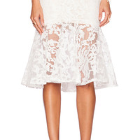 Toby Heart Ginger x Love Indie Ariel Frill Midi Skirt in White