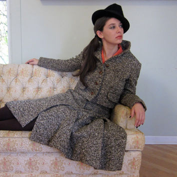 Vintage 60s Geoffrey Beene Grey & Brown Tweed Suit by BasyaBerkman