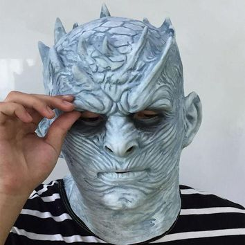 ONETOW Cosplay Game of Thrones Night's King Walker Face NIGHT RE Zombie Halloween Mask For Adults Throne Costume Party Accessory