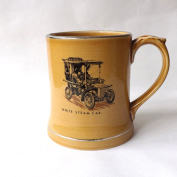 Large Ceramic Tankard 1 Pint for Him, Man Coffee Beer Mug, Vintage Male Gift, Irish Wade, Veteran Car Stocking Stuffer Coffee Cup, Beer Ale