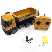 HUINA 1573 1/14 10CH Alloy RC Dump Trucks Toy Engineering Construction
