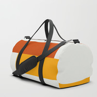 Yellow Meets Crimson Duffle Bag by spaceandlines