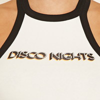 Disco Nights Graphic Crop Top