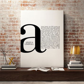 A in Fashion - FASHION Print Typography - Fashion quotes, art, wall art, Fashion Magazine illustration