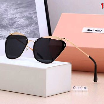 Miu Miu Fashion Women Casual Summer Sun Shades Eyeglasses Glasses Sunglasses 1#