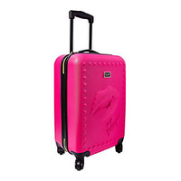 DEBOSSED LIPS ROLLER LUGGAGE: Betsey Johnson