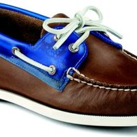 Sperry Top-Sider Authentic Original Seaglass 2-Eye Boat Shoe DarkBrown/Blue, Size 10.5M  Men's Shoes