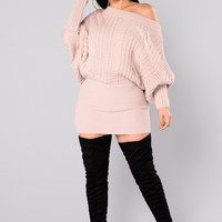 Millie Cable Knit Sweater - Mauve