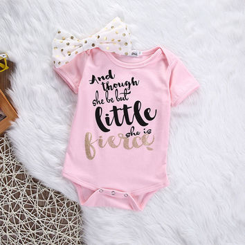 New Born Baby Girl Clothes Outerwear Baby's Sets Casual Romper+Headband Suit Roupa Infantil Baby Costume