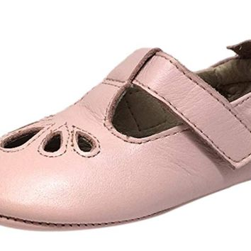 Old Soles Girl's 053 Powder Pink T-Petal Mary Jane Shoe