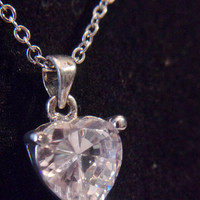 Clear Heart Pendant Necklace Fashion Accessories For Her Romantic Valentines Day Jewelry
