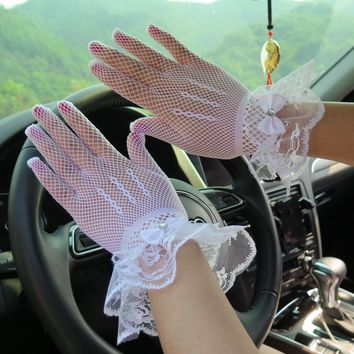 Women's sexy lace gloves girls lace gloves mesh gloves