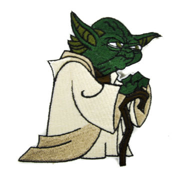 Master Jedi Yoda Patch Iron on Applique Alternative Clothing