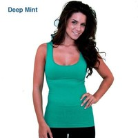 Sculpting Fitted Yoga Tank Top Deep Mint from Urban People Clothing