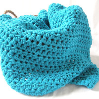 Ready To Ship Turquoise Baby Blanket Afghan Baby Shower Gift Photo Prop Heirloom Blanket