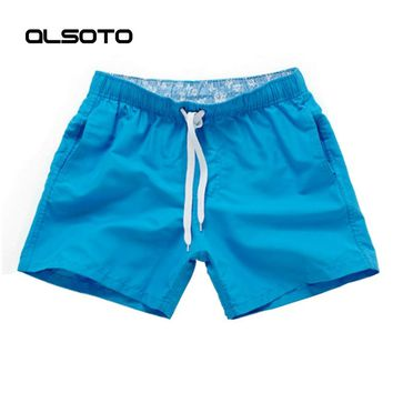 Summer style Men Running Shorts Slim Solid Color Basketball Fitness Sport Surf Board Short Pants Beach Shorts Homme Moda Praia