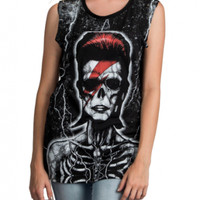 Too Fast Skeleton Bowie Muscle Shirt - Tanks - Women's Online Store