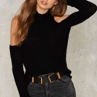 Nasty Gal Put It Down Ribbed Sweater