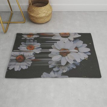 A little pretty, A little Messed up Rug by duckyb