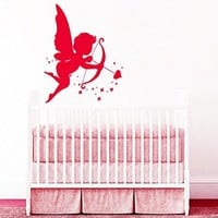 Wall Decals Love Angel Cupid Decal Vinyl Sticker Home Decor Nursery Bedroom Interior Cupid Arrow Window Decals Art Murals