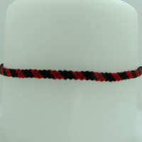 Evil Yin Yang Inspired Candy-Cane Friendship Bracelet