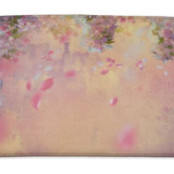 Bath Mat, Spring Cherry Blossom Painting
