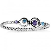 Halo Halo Hinged Bangle Bracelets