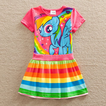 Neat girls dress summer baby girl dress my little pony cotton co 3f802683c
