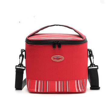 Premium 6L portable Personal Cooler  Lunch Bag Box    red