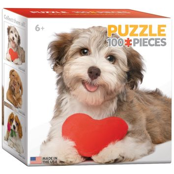 Dog with Heart - 100 Piece Mini Jigsaw Puzzle