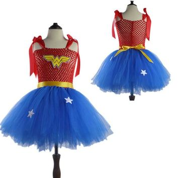 Girls Wonder Woman Tutu Dress