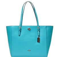 COACH Women's Crossgrain Turnlock Tote