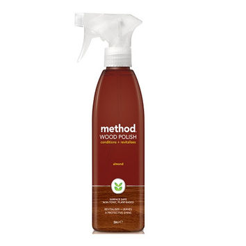 Method Wood Polish Spray Clean and buff your wood back to its natural beauty, Recyclable plastic bottle