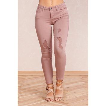 Less Stress Pants (Red Bean)