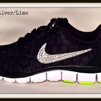 Nike Free 5.0 with Swarovski crystal from HarrietHazelDesigns on ba4b4fcdd