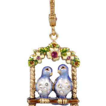 Lucy & Carl Lovebirds Charm - Jay Strongwater