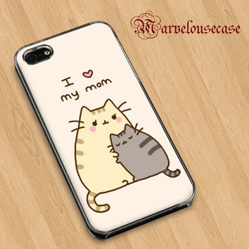 Pusheen The Cat I Love My Mom   custom case for all phone case