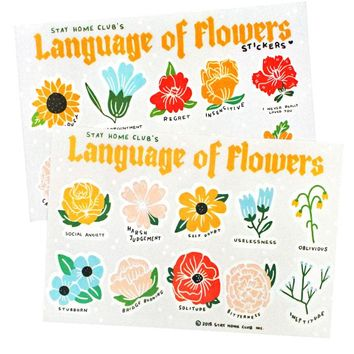 Language of Flowers Sticker Sheet (Set of 2 Designs)