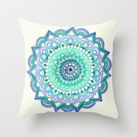 Deep Forest Flower Throw Pillow by Tangerine-Tane