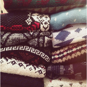 Distressed Mystery Vintage Unisex Pattern Sweaters, All Styles & Size