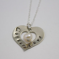 Capture Love - Sterling Silver Heart Photographer's Necklace with Cultured Pearl