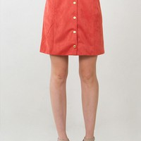 Rusty Suede Skirt*